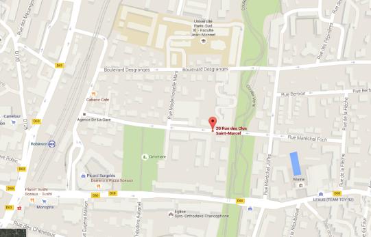 plan-acces-dojo-sceaux-20-rue-des-clos-marcel